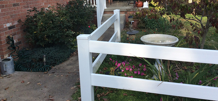 2 Rail Ranch Style Decorative Fence